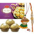 Send Fancy Rakhi with Sweets to Scatter Melody and Surprise to